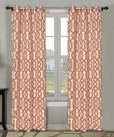 Spice Grenada Curtain Panel - Set of Two by Beatrice Home #zulily #zulilyfinds