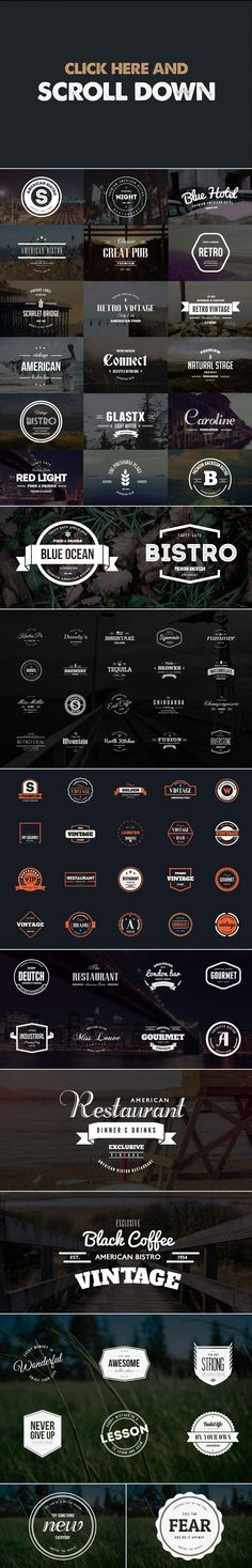 MEGA BUNDLE 326 Vintage Logos Badges - Logos - 2