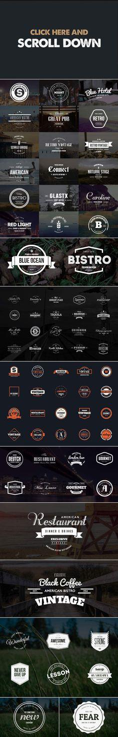 MEGA BUNDLE 326 Vintage Logos Badges - Logos - 2