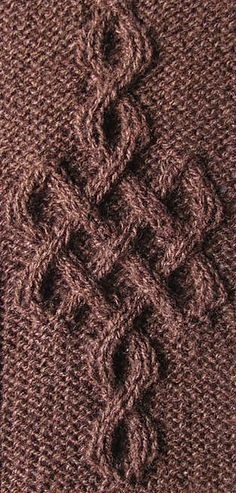 Celtic Motif (knot #243) by Devorgilla's Knitting (sometimes...) free.  mönsterstickning cable
