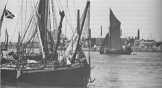 Thames Sailing Barges in competition at Greenwich