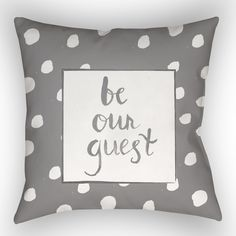 Gianna Be Our Guest Indoor/Outdoor Throw Pillow