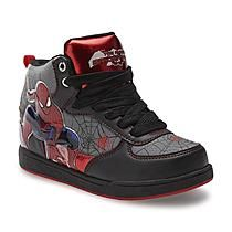 Marvel Comics Spider-Man Boy's Black/Red High-Top Sneaker