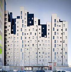 Viviendas sociales en Méndez Álvaro by Solid Arquitectura (Madrid, Spain) #architecture