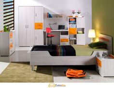 Dětský pokoj Furnipol.cz System Furniture, Kids Furniture, Stylish Kids, Verona, Bunk Beds, Mattress, Toddler Bed, Colours, The Originals
