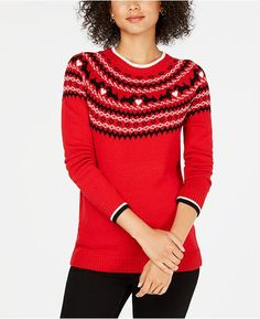 main image Red Sweaters, Pullover Sweaters, Sweaters For Women, Club Tops, Scottie Dog, Lady Grey, Christmas Sweaters, Clothes, Scottish Terriers
