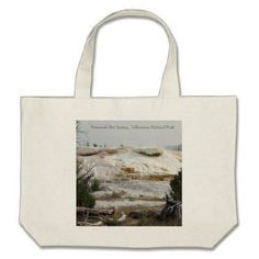 Mammoth Hot Springs Yellowstone National Park Large Tote Bag | Zazzle.com Hot Springs Arkansas, College Tote, College Gifts, Yellowstone Nationalpark, Tote Bag, Large Tote, Travel Bags, Bag Accessories, National Parks