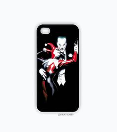 The joker and Harley Quinn Iphone 5 case, Iphone 5s case, Hard Plastic Case
