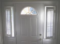 Never know what to do with those pesky sidelights? Shutters are a great solution! They are excellent for privacy and light control.