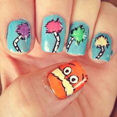 Happy Dr. Seuss Day! The Lorax nails in celebration :)