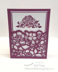 Floral Phrases Pocket Card (Confessions of a Stamping Addict)