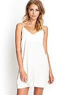 Double-V Slip Dress