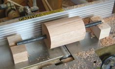 rounding the cylinder on the jointer