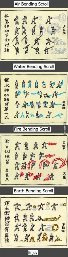Avatar's bender training scroll.