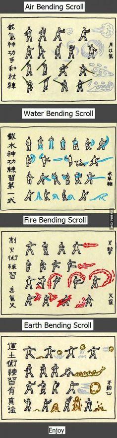 Avatar's bender training scroll.