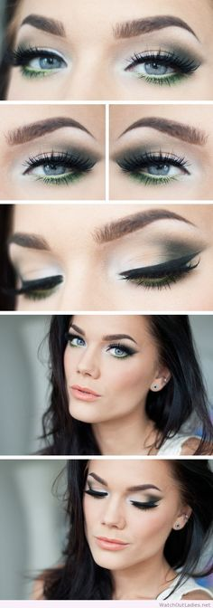 Linda Hallberg wonderful eye makeup and orange lips