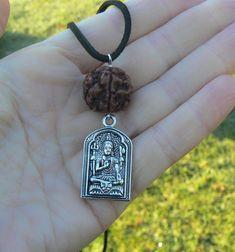 spiritual protection Snake pendant with rudraksha gift for her|