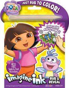 bendon publishing dora the explorer rub and reveal book by bendon publishing 799 24 page imagine ink rub and reveal pad and 1 coloring tool - Imagine Ink Coloring Book