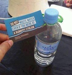 """""""Akan nehrin kenarında olsanız dahi israf etmeyiniz"""" Hz.Muhammed. .. Avustralya da bir su firmasının sözü kullanması. .."""