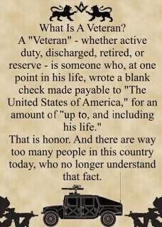 My dad is a US Army veteran of the Korean War and my husband is retired USAF, veteran of the Gulf War.