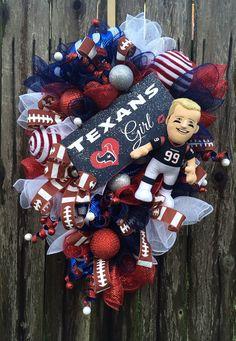 Houston Texans Wreath Houston Texans Mesh Wreath by BaBamWreaths