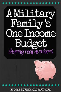 Sharing a reall budget for a military family. Always interesting to see how other's manage their income and expenses!