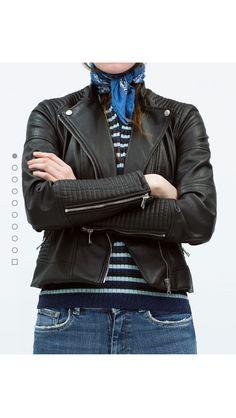 Faux leather biker jacket Zara woman
