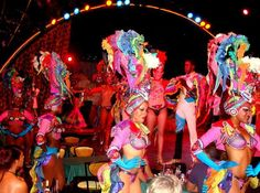 Tropicana Cabaret  Havana  Cuba. One cannot help thinking that all artists  singers and dancers in t...