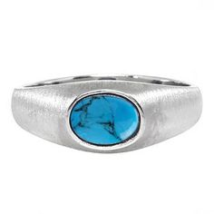 East-West Oval Cut Turquoise White Gold Pinky Ring For Men Gemologica.com offers a unique selection of mens gemstone and birthstone rings crafted in sterling silver and 10K, 14K and 18K yellow, white and rose gold. We have cool styles including wedding and engagement rings, fashion rings, designer rings, simple stone and promise rings. Our complete jewelry collection of gemstone rings for men can be seen here: www.gemologica.com/mens-gemstone-rings-c-28_46_64.html