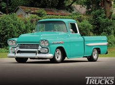 1959 Chevrolet Apache - Custom Classic Trucks Magazine My favorite year for Chevy trucks only I prefer the step-side bed. [[cc]]