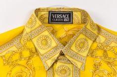 5b00f5de vintage Gianni Versace silk shirt V2 gold print clothing sammyninos 5