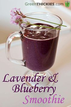 Start the day with a #Lavender and Blueberry Smoothie recipe from Green Thickie. Get organic culinary lavender at www.lavendergreen.com/culinary-lavender/ Since the potency of lavender flowers increases with drying, use 1/3 the amount of dried lavender in recipes that call for fresh lavender.