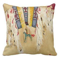De inheemse Kunst van de Indiaan op de Druk van Lounge Kussens