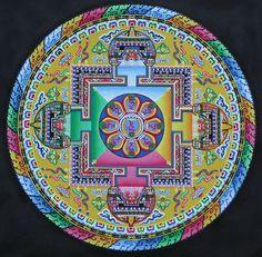 MANDALA MURAL ART - Yahoo Search Results Yahoo Image Search Results Tibetan Mandala, Tibetan Buddhism, Buddhist Art, Sand Painting, Sand Art, Mandala Stencils, Mandala Art, Vajrayana Buddhism, Middle School Art Projects