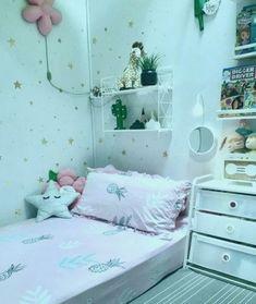 Army Room Decor, Cute Bedroom Decor, Stylish Bedroom, Small Room Bedroom, Girls Bedroom, Ideas Habitaciones, Girl Bedroom Designs, Home Room Design, Aesthetic Room Decor