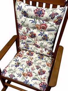 Jacobean Gem Red Rocking Chair Cushions Are Made In A Jacobean Floral  Pattern In An Exciting
