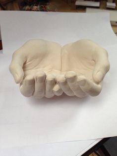 Plaster hand cast