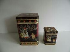 Chinese theeblikjes. Used to have those tea containers....don't really know what happened to them