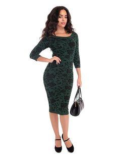 Ivana Knit Dress, Grønn/sort