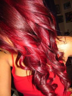 "Red hair is not for the faint of the heart. Red hair color is a fierce and bold hair colorRead More Bold & Beautiful Bright Red Hair Color Shades & Hairstyles"" Best Red Hair Dye, Bright Red Hair Dye, Dyed Red Hair, Violet Hair, Red Hair Bright Cherry, Pink Hair, Colorful Hair, Love Hair, Gorgeous Hair"