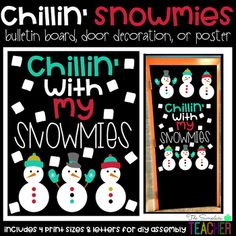 Chillin' with My Snowmies Winter Snowman Bulletin Board, DYou can find Winter bulletin boards and more on our website.Chillin' with My Snowmies Winter Snowman Bulletin Board, D December Bulletin Boards, Door Bulletin Boards, Christmas Bulletin Boards, Christmas Classroom Door, Winter Bulletin Boards, Preschool Bulletin Boards, Winter Bulliten Board Ideas, Preschool Christmas, Classroom Decor