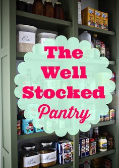 Stocking up your love larder