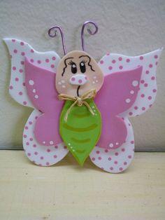 Mariposa en goma eva | Goma Eva | Pinterest