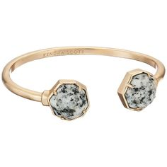Kendra Scott Brinkley Bracelet (Rose Gold/Gray Granite) Bracelet ($75) ❤ liked on Polyvore featuring jewelry, bracelets, rose gold jewellery, gray jewelry, kendra scott jewelry, rose jewelry and rose gold bangle