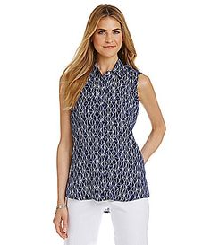 Investments Sleeveless Utility Blouse #Dillards