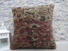 decorative carpet pillow 16x16 carpet pillow turkey carpet pillow 16x16 handmade carpet pillow natural carpet pillow sofa pillow boho pillow