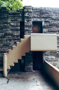 Staircase - Architectural House Tour II: Fallingwater - Nalata Nalata
