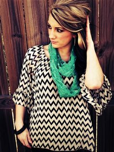 chevron shirt with scarf