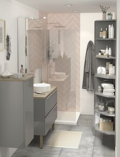 The Imandra bathroom collection from B&Q not only comes in a variety of shapes and sizes, but in different colours too. This grey gloss vanity unit is the perfect addition to any bathroom. To help you design your own dream bathroom our online Bathroom Planner has all the tools!