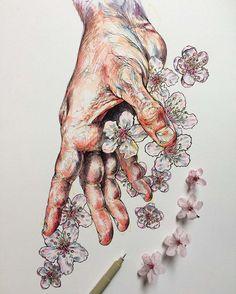 Hands and Flowers – Les illustrations poétiques de Noel Badges Pugh | Ufunk.net
